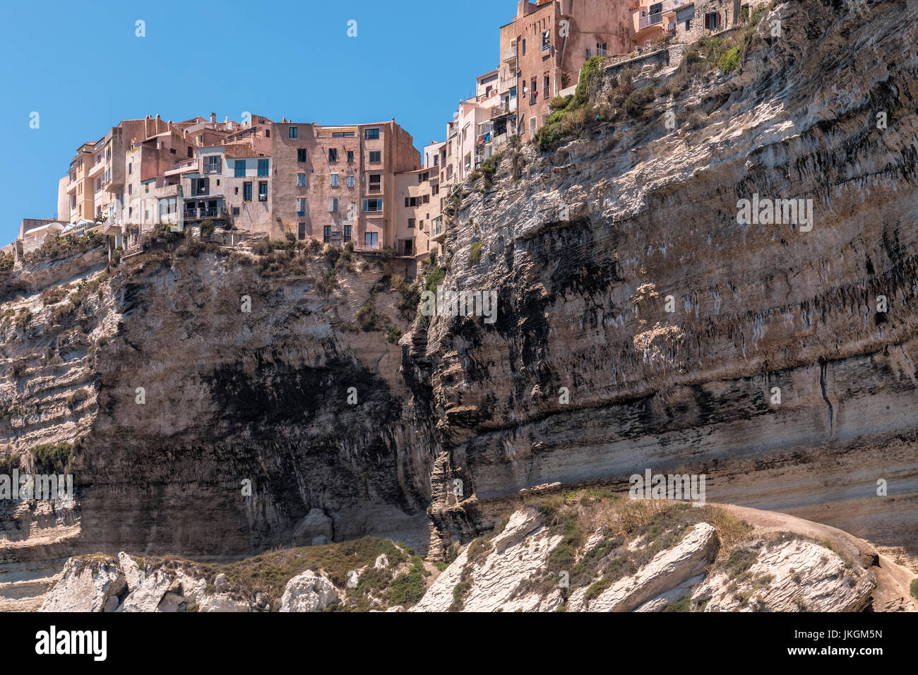 Ville Haute, Bonifacio, Corsica, France Stock Photo