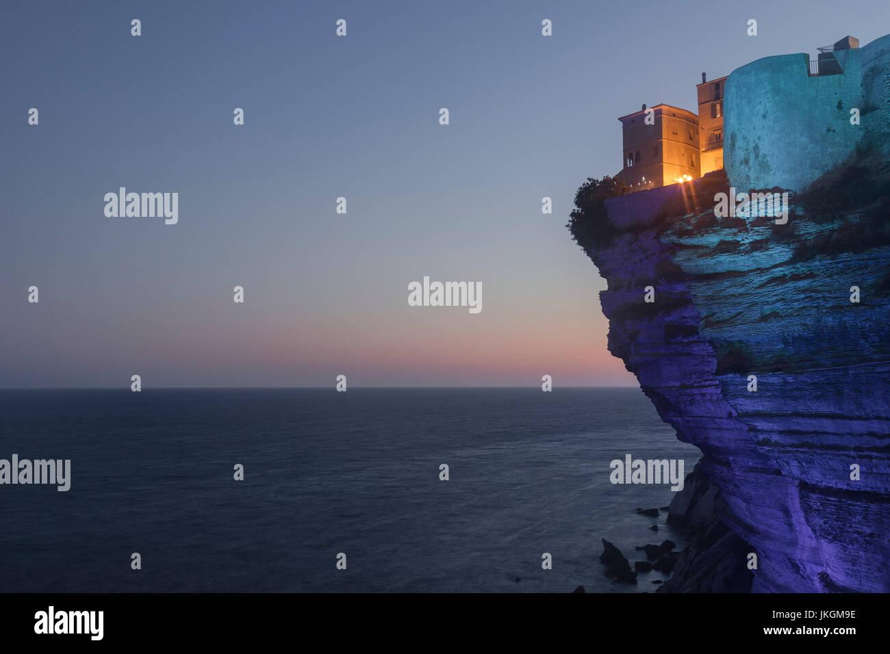 Ville Haute, Bonifacio, Corsica, France - Stock Image