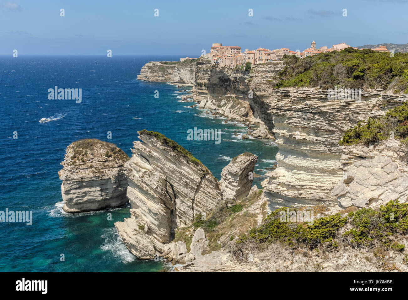 Ville Haute, Bonifacio, Corsica, France Stock Photo