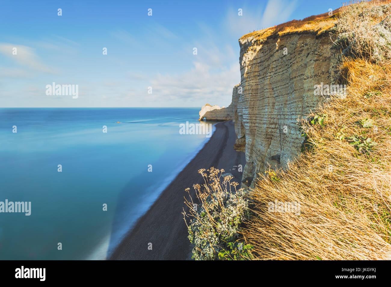 France, Normandy Coast, Etretat, France, Europe - Stock Image
