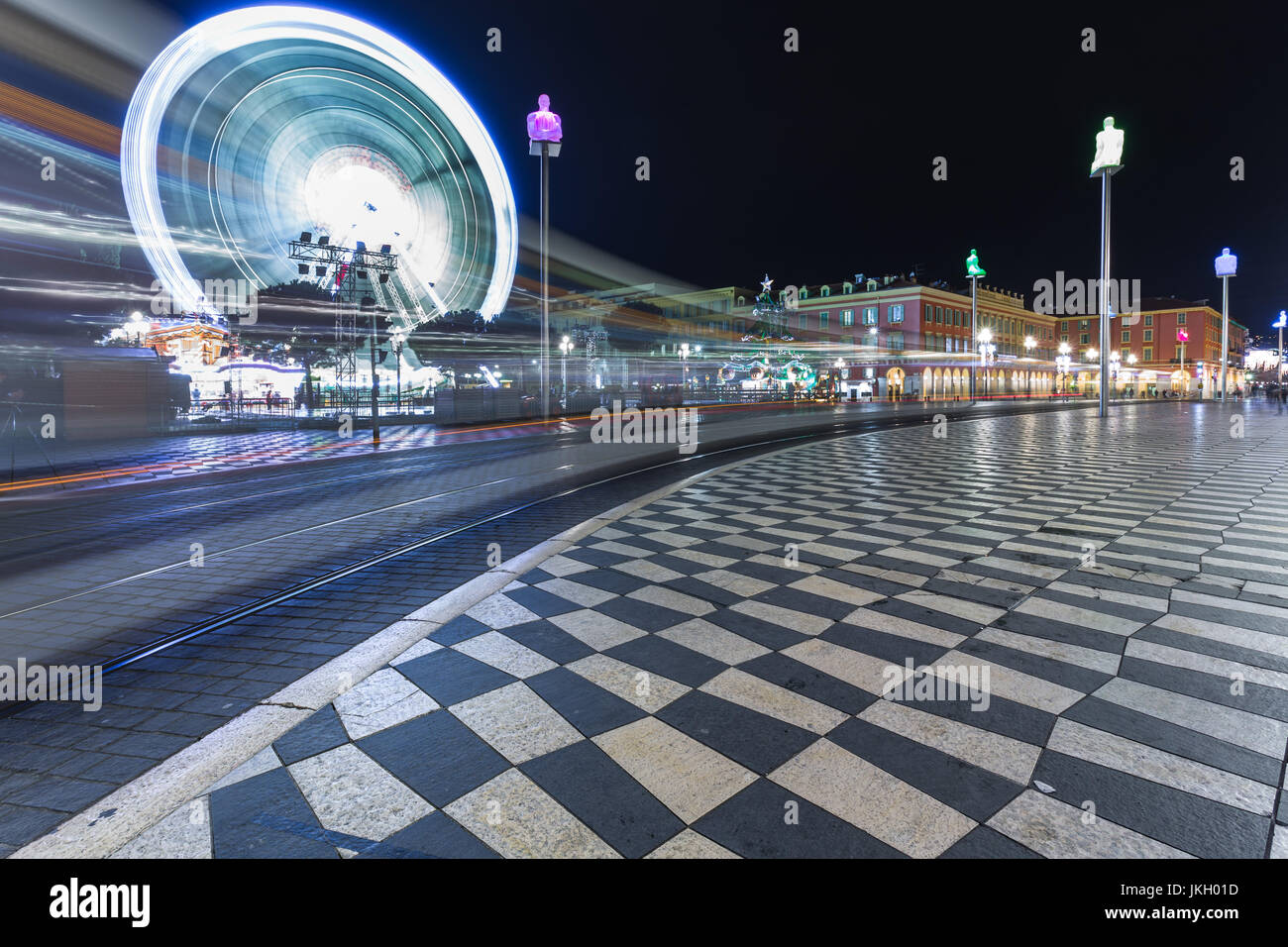 Place Massena in Nice, France - Stock Image