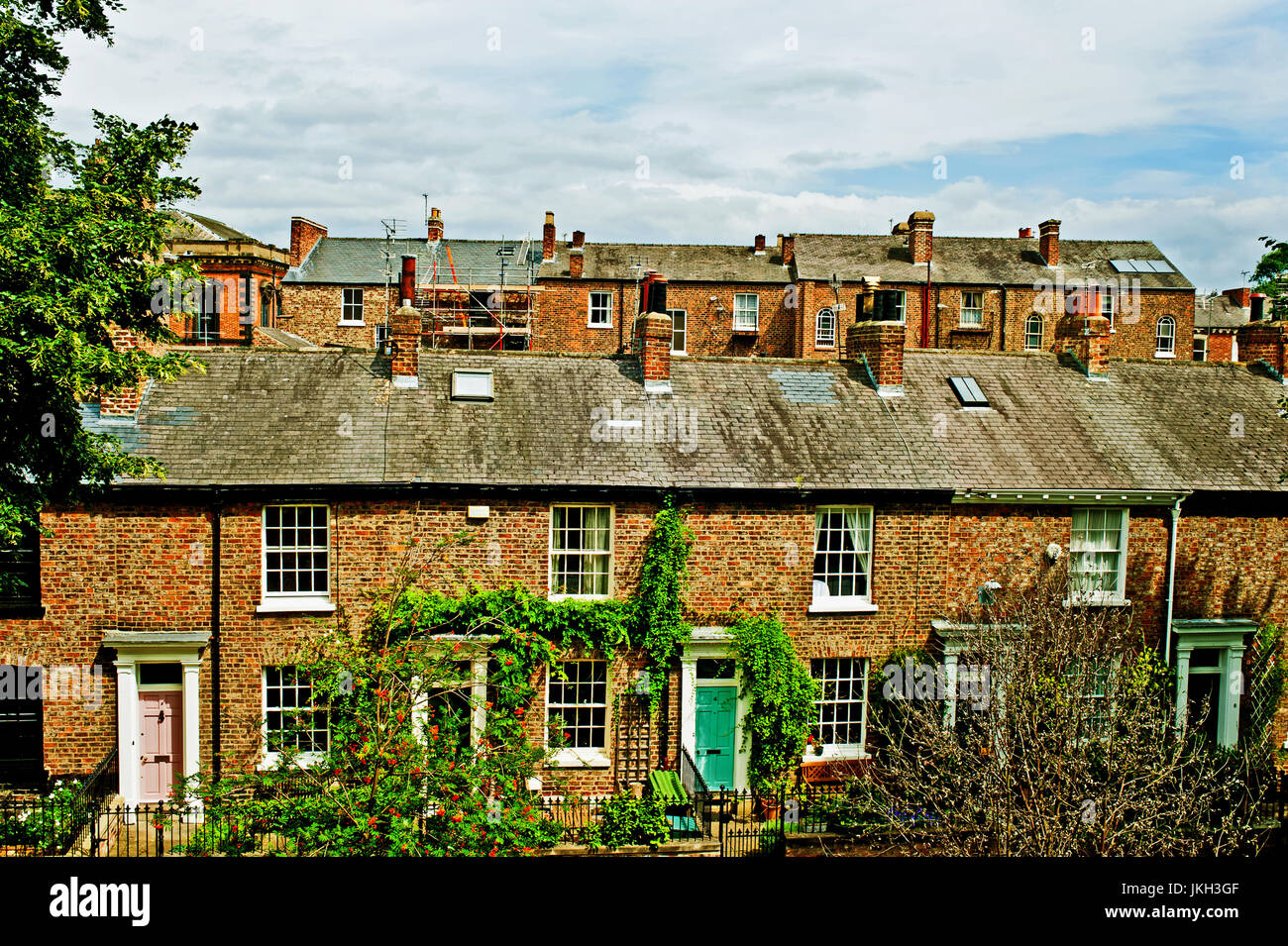 Dewsburry Terrace Cottages, Mickelgate, York - Stock Image