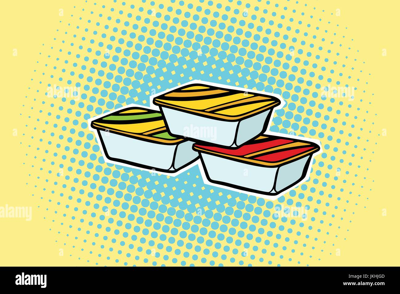 packing fast food sauce - Stock Vector