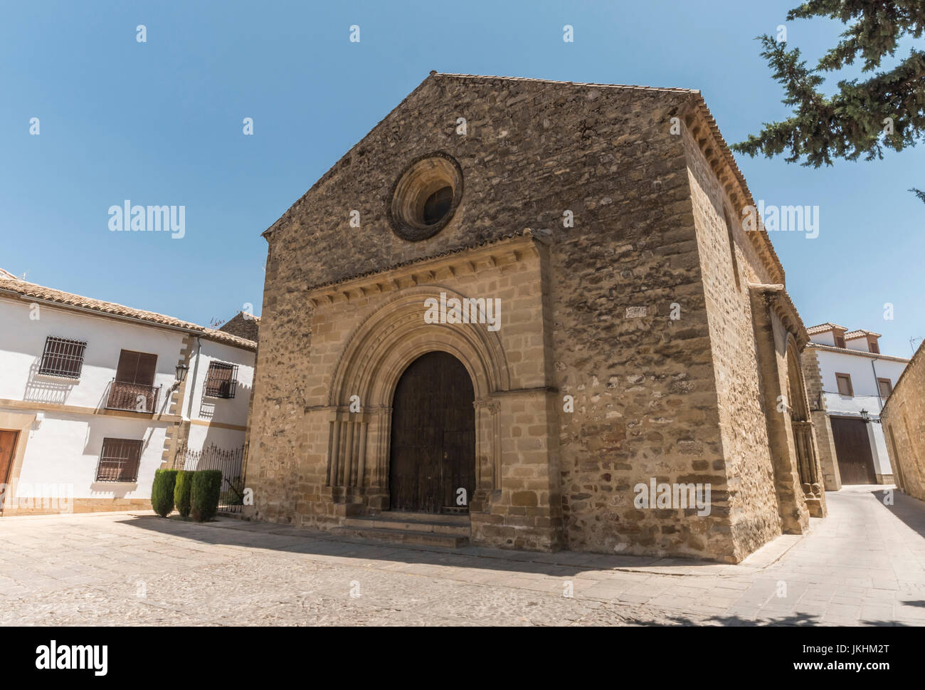 Church romanic of the Santa Cruz, built in the XIII century, declared Patrimony of the Humanity by Unesco, Baeza, - Stock Image
