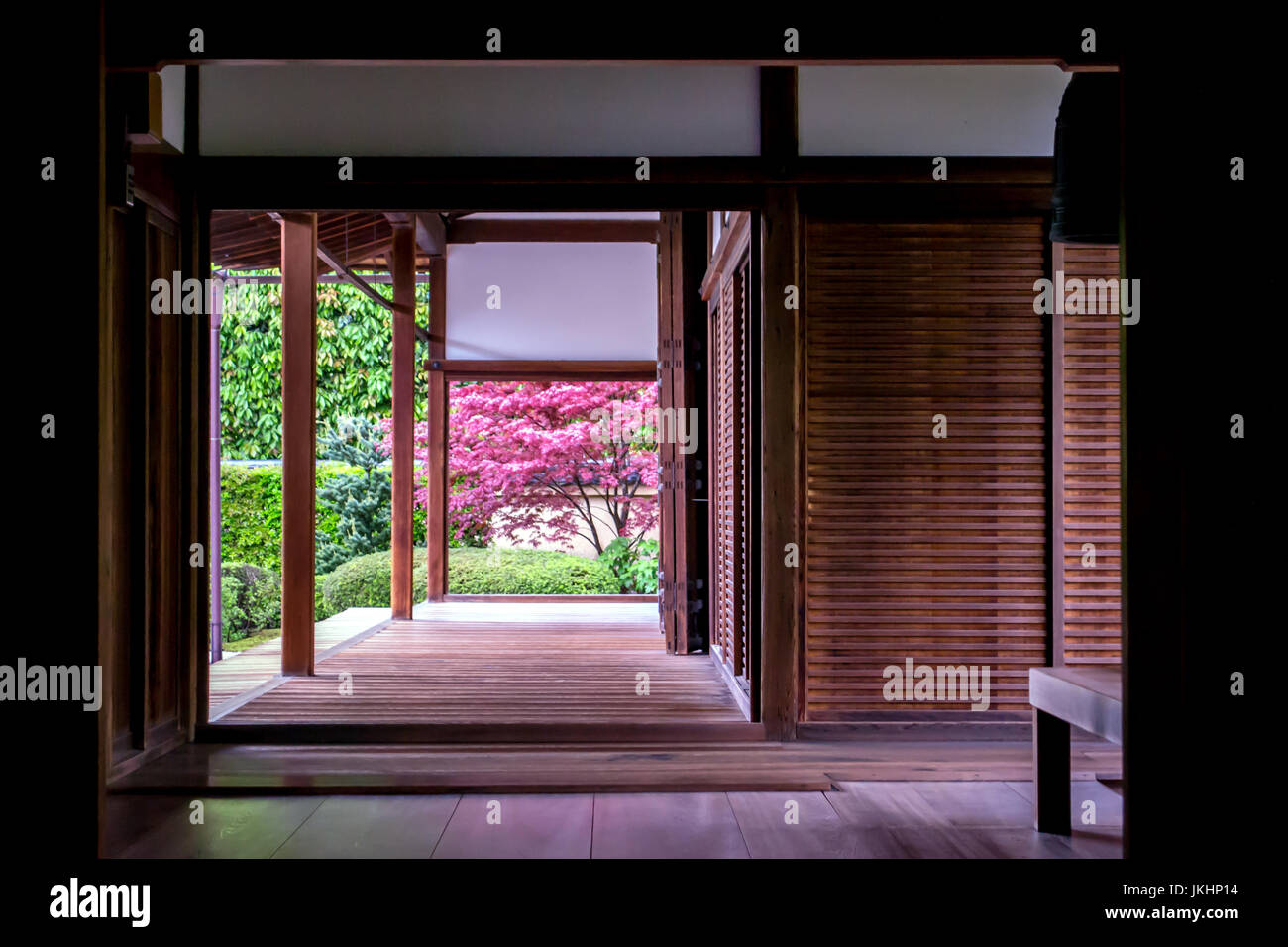 Kyoto Temple Interior - Stock Image