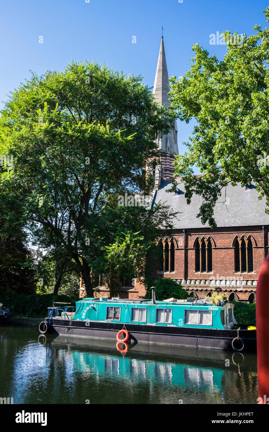 St.Mary Magdelene church beside the Grand Union canal, Paddington, City of Westminster, London, England, U.K. - Stock Image