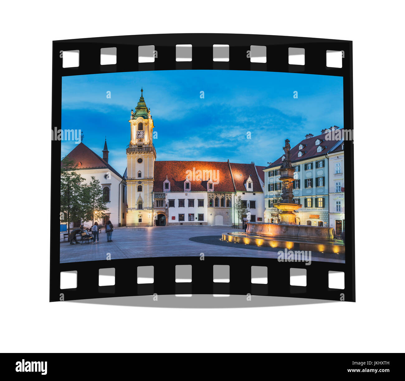 The old town hall is one of the oldest buildings of Bratislava built of stone. It is located at the Main Square - Stock Image