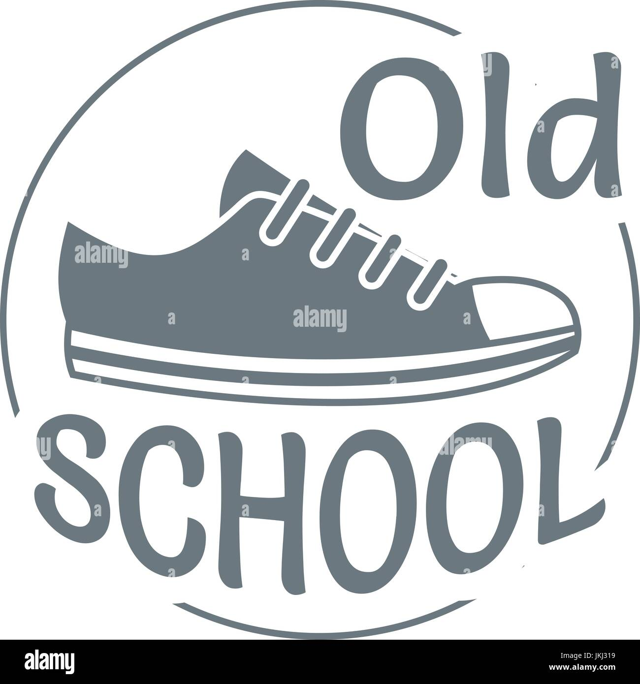Old school logo, simple style - Stock Image