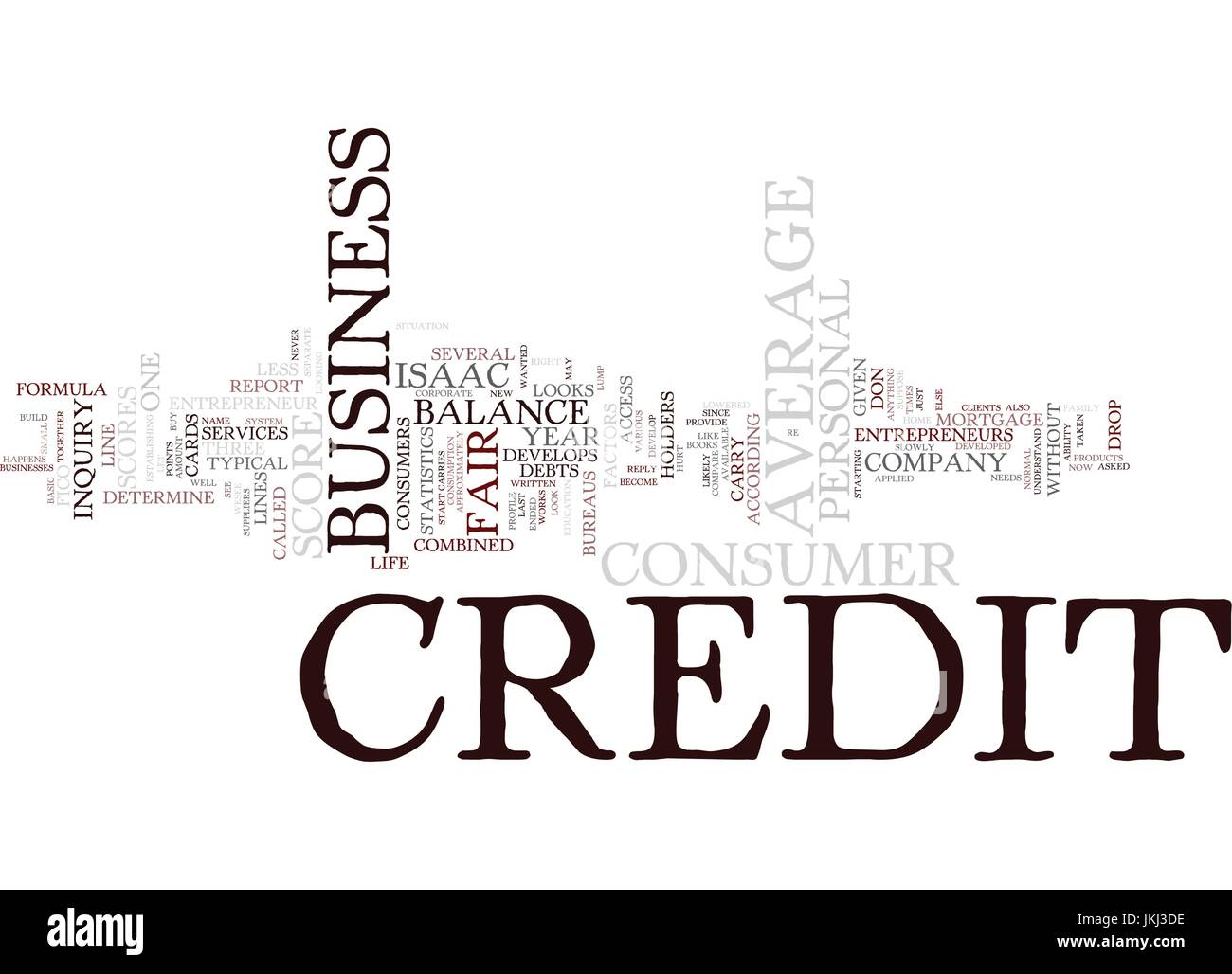 ENTREPRENEURS DON T HAVE AVERAGE CREDIT SCORES Text Background Word Cloud Concept - Stock Vector