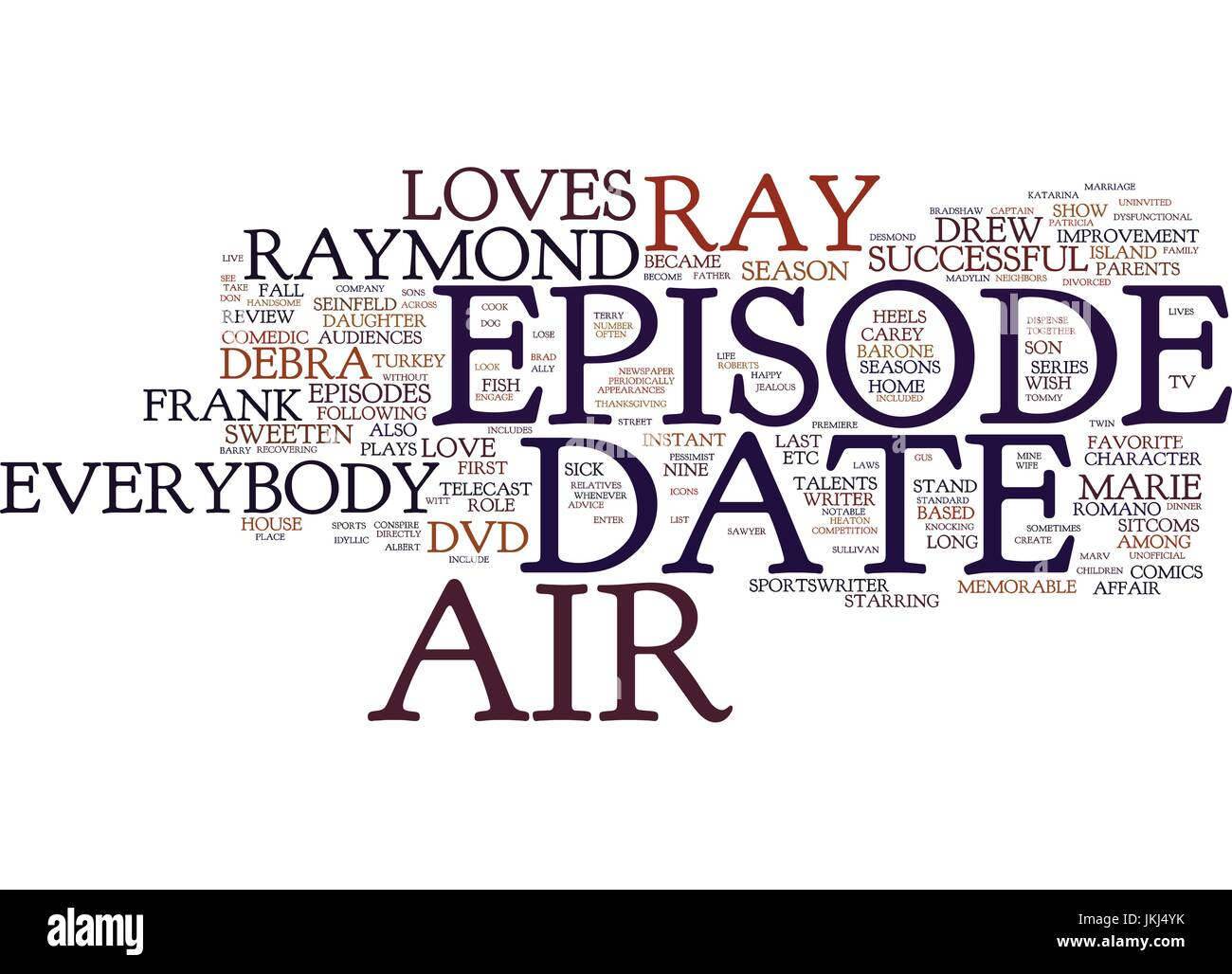 EVERYBODY LOVES RAYMOND DVD REVIEW Text Background Word Cloud Concept - Stock Vector