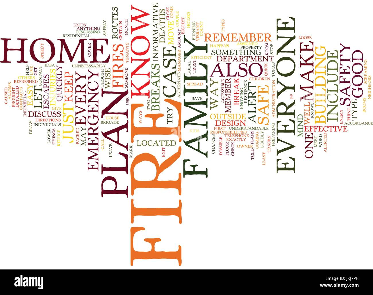 FIRE SAFETY IN THE HOME Text Background Word Cloud Concept - Stock Vector