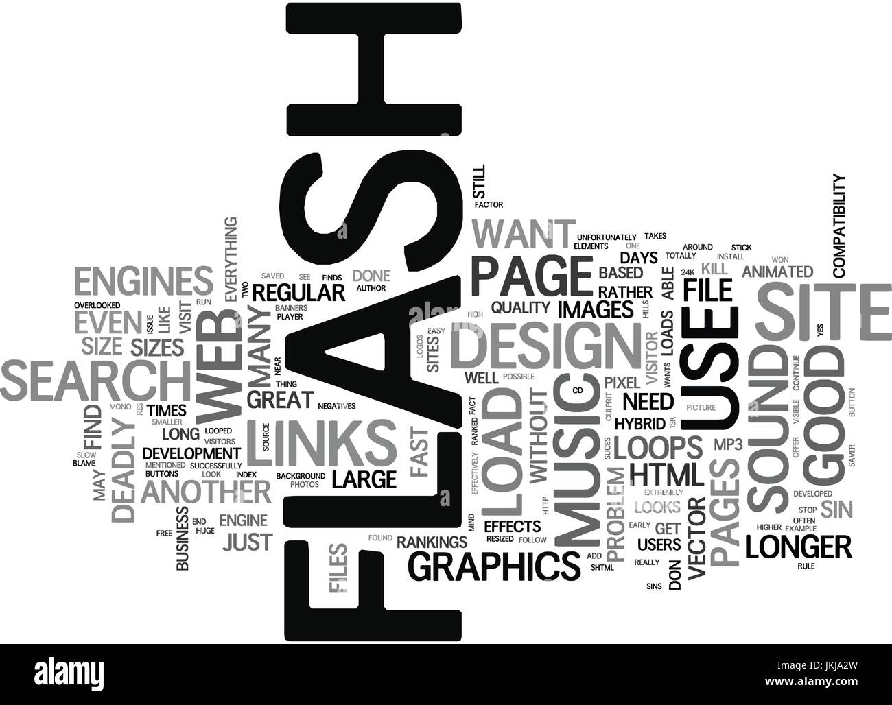 FLASH DEADLY SINS THAT CAN KILL YOUR WEB BUSINESS Text Background Word Cloud Concept - Stock Vector