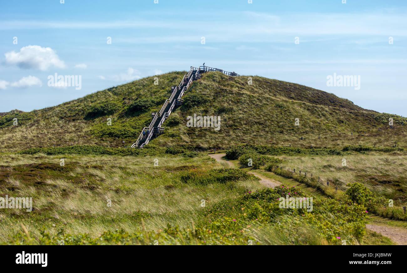 Uwe-Düne - highest elevation on the island Sylt (Germany). - Stock Image