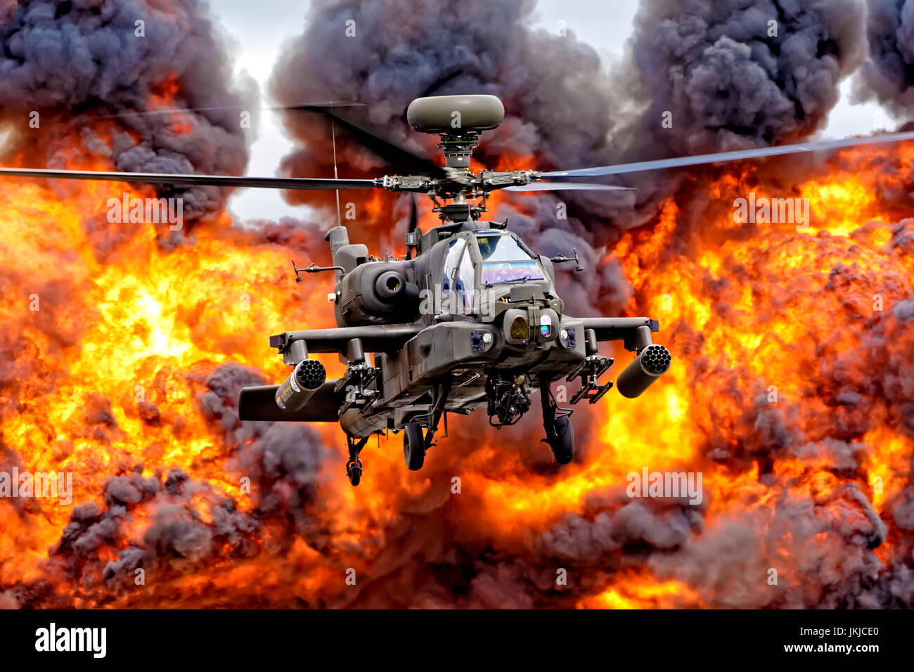 British Army Air Corps AgustaWestland Apache AH.1 Attack Helicopter - Stock Image