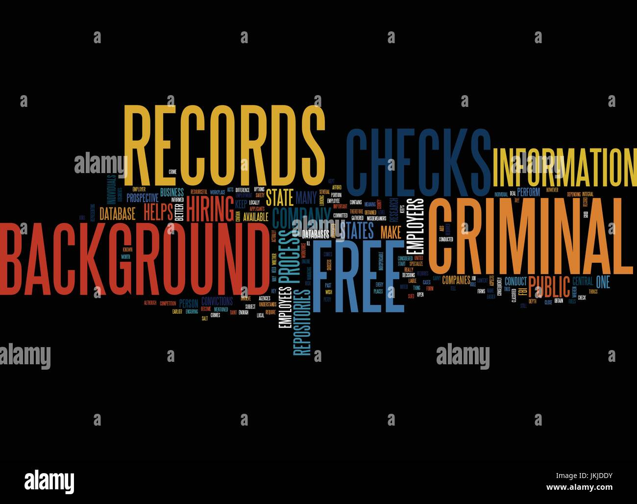 Free Criminal Record Check >> Free Criminal Records Background Checks Text Background Word Cloud