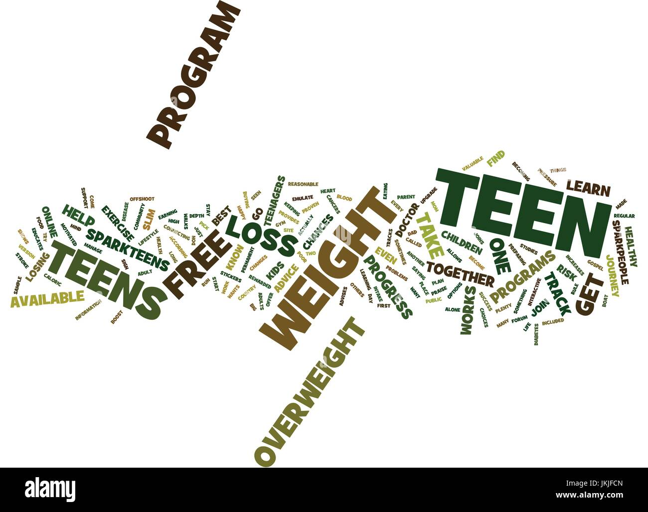 Free Weight Loss For Teens Safe And It Works Text Background Word Stock Vector Image Art Alamy