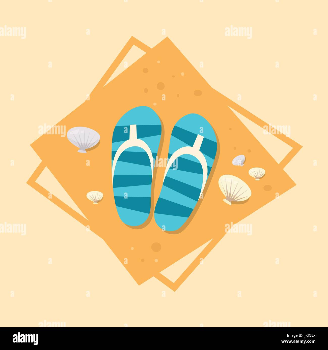 a5486809c190d Flip Flops Icon Summer Sea Vacation Concept Summertime Holiday Stock ...