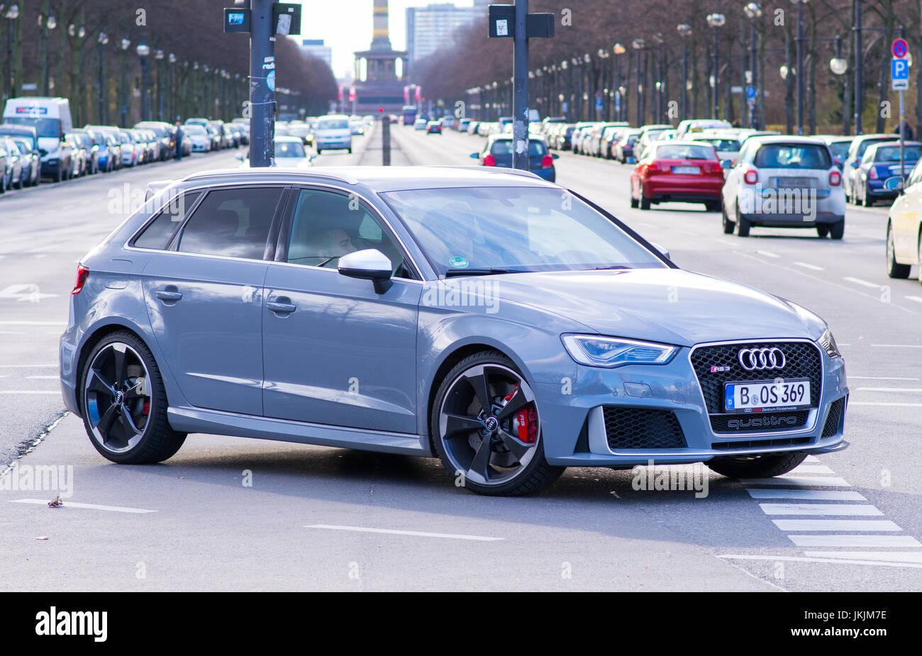 Shiney Audi Car - Berlin, Germany - Stock Image