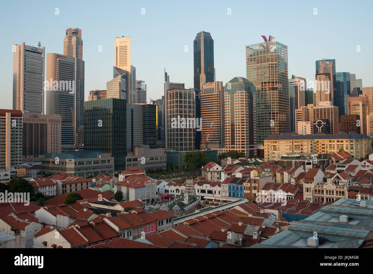 23.07.2017, Singapore, Republic of Singapore, Asia - A view of traditional shop houses in Singapore's Chinatown - Stock Image