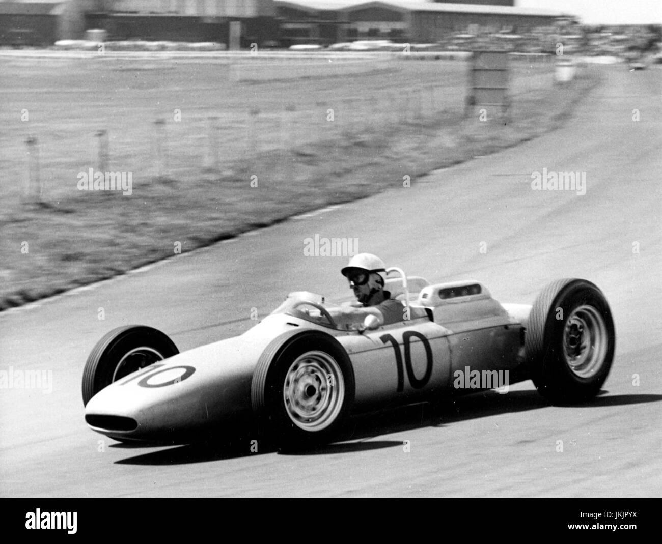 Porsche 804 Jo Bonnier 1962 British Grand Prix - Stock Image