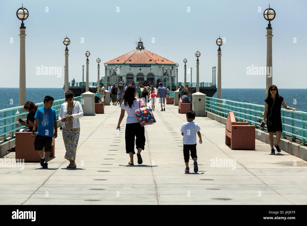 View of Manhattan Beach, California. - Stock Image
