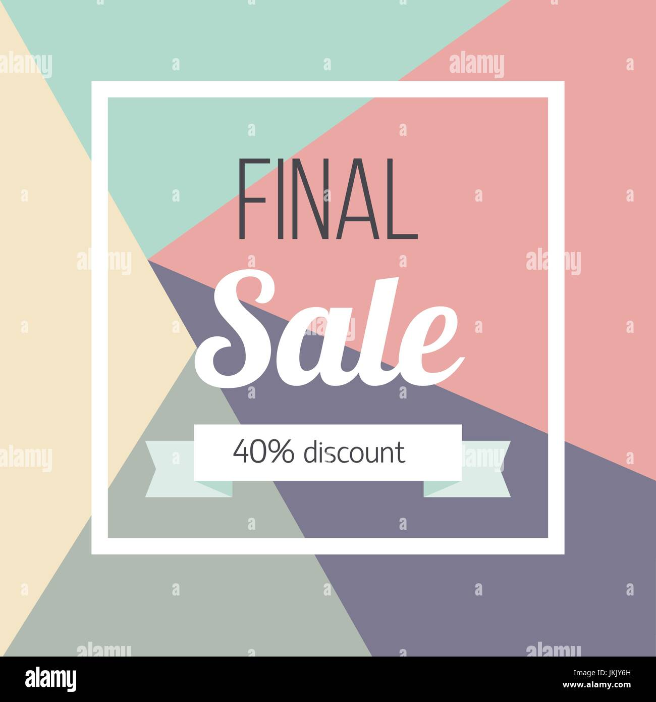 Final sale poster Vector illustration Template design for the online store, shops, poster and banner The inscription - Stock Vector