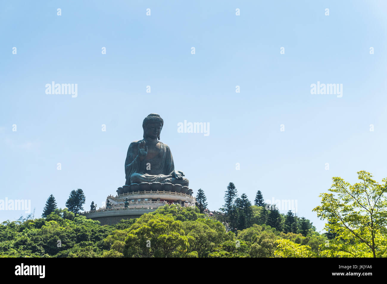 Tian tan buddha of po lin monastery in lantau island hongkong china - Stock Image