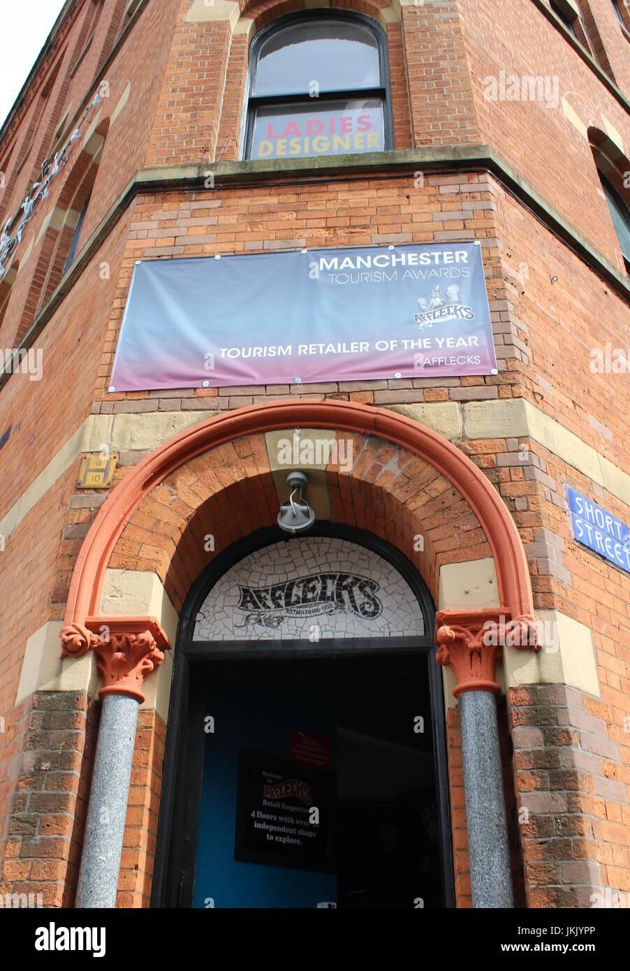 Afflecks Palace, Manchester - Front Entrance - Stock Image