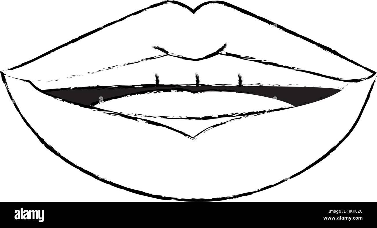 Lips Pop Art Cartoon Over White Background Icon Stock Vector Image Art Alamy