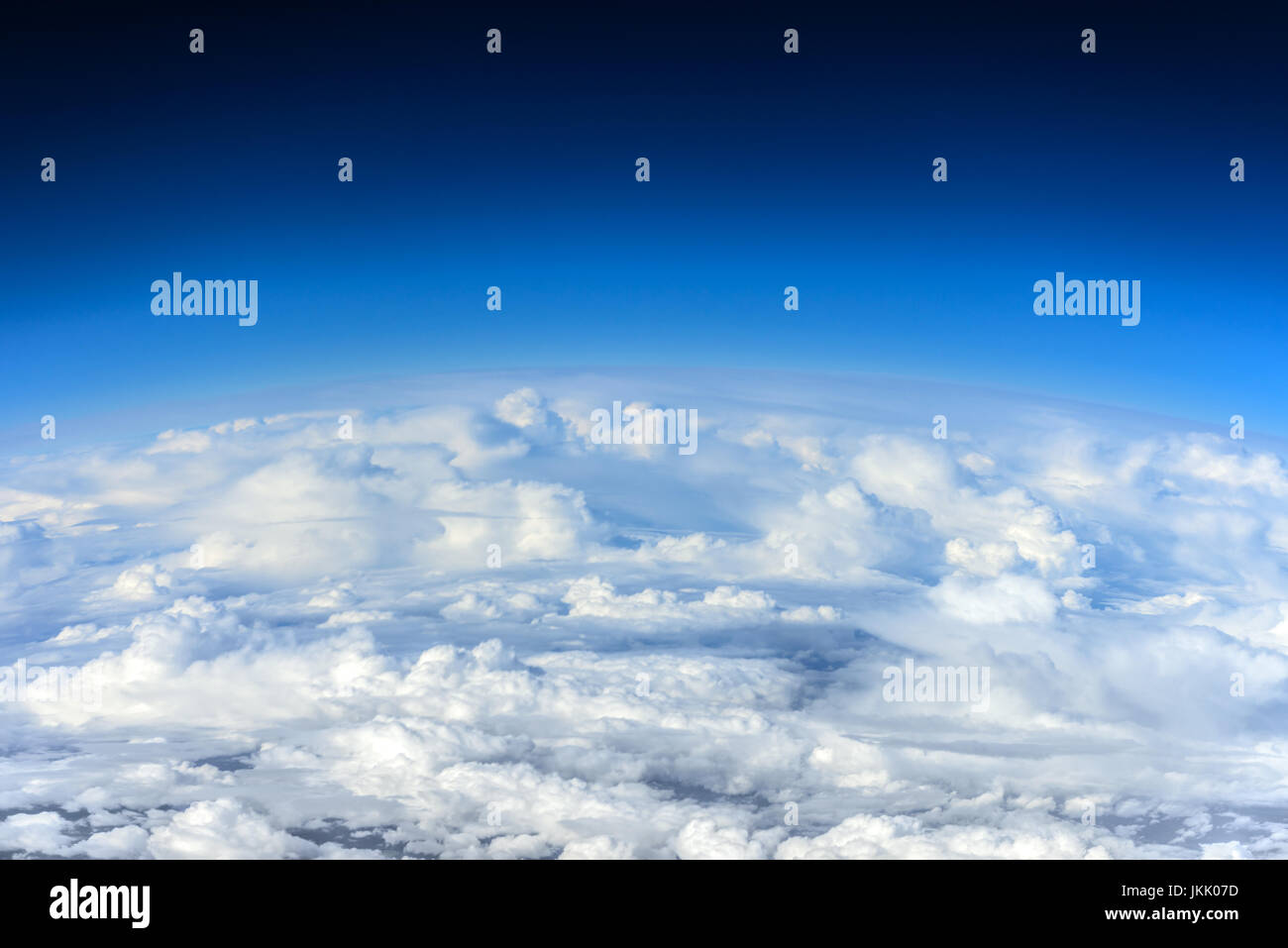 Clouds, a view from airplane window - Stock Image