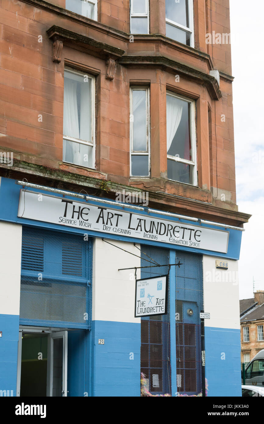The Art Laundrette, Glasgow, Scotland, UK - Stock Image
