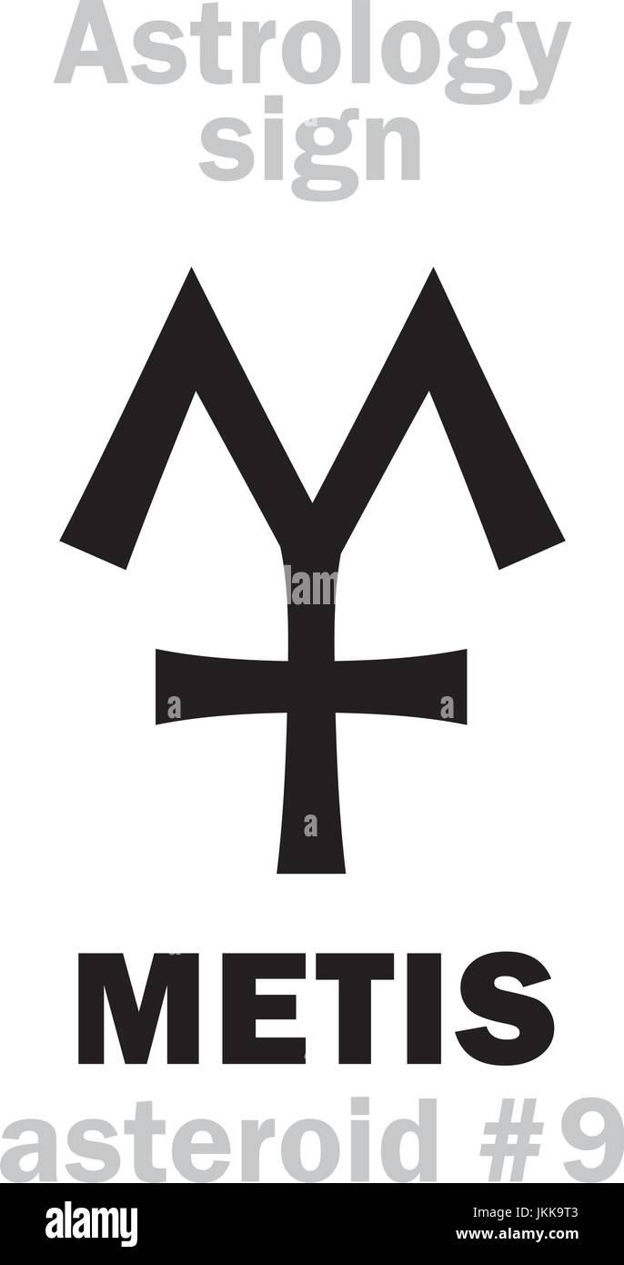 Astrology Alphabet: METIS, asteroid #9  Hieroglyphics