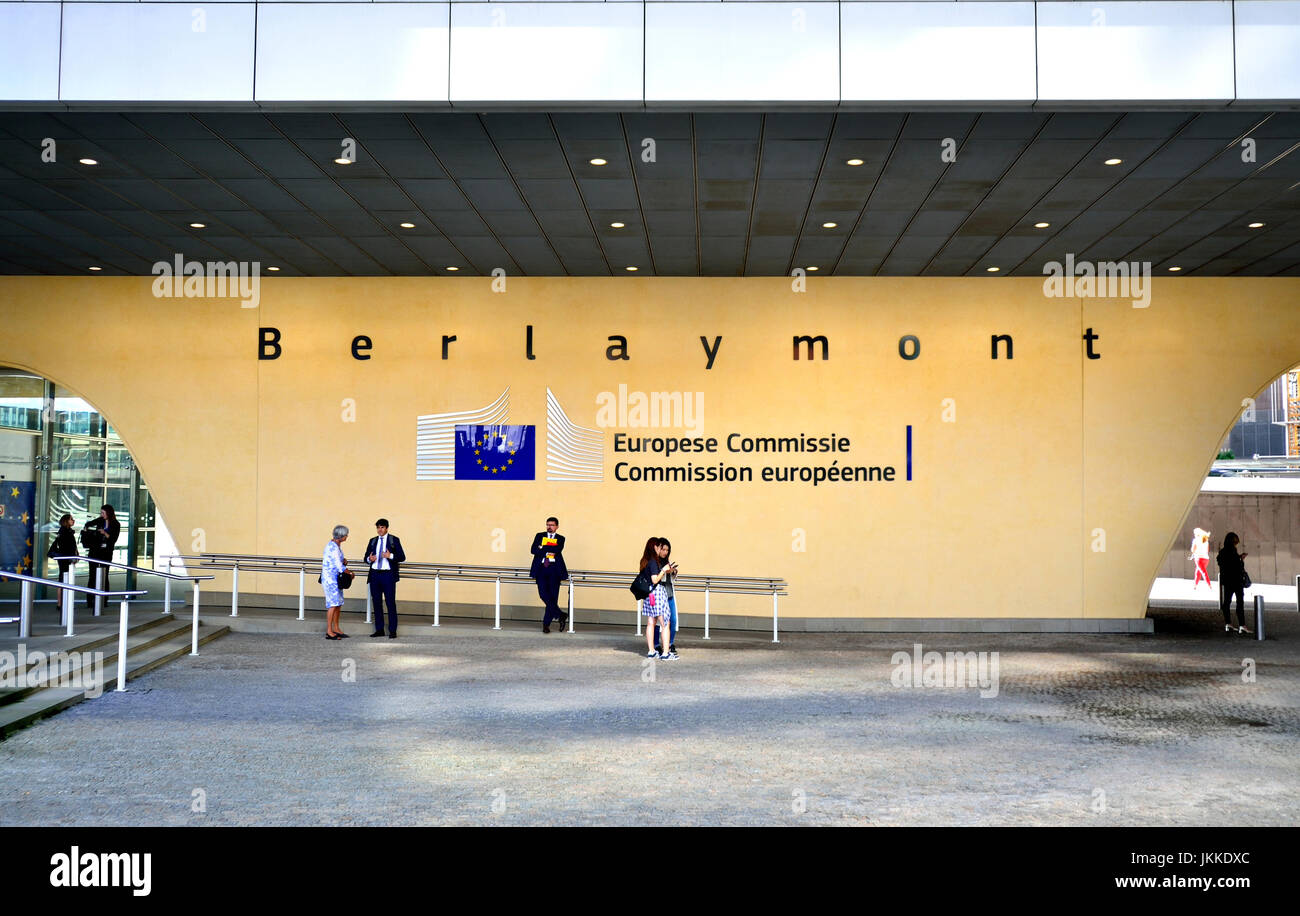 Brussels, Belgium. European Commission Berlaymont building - Stock Image