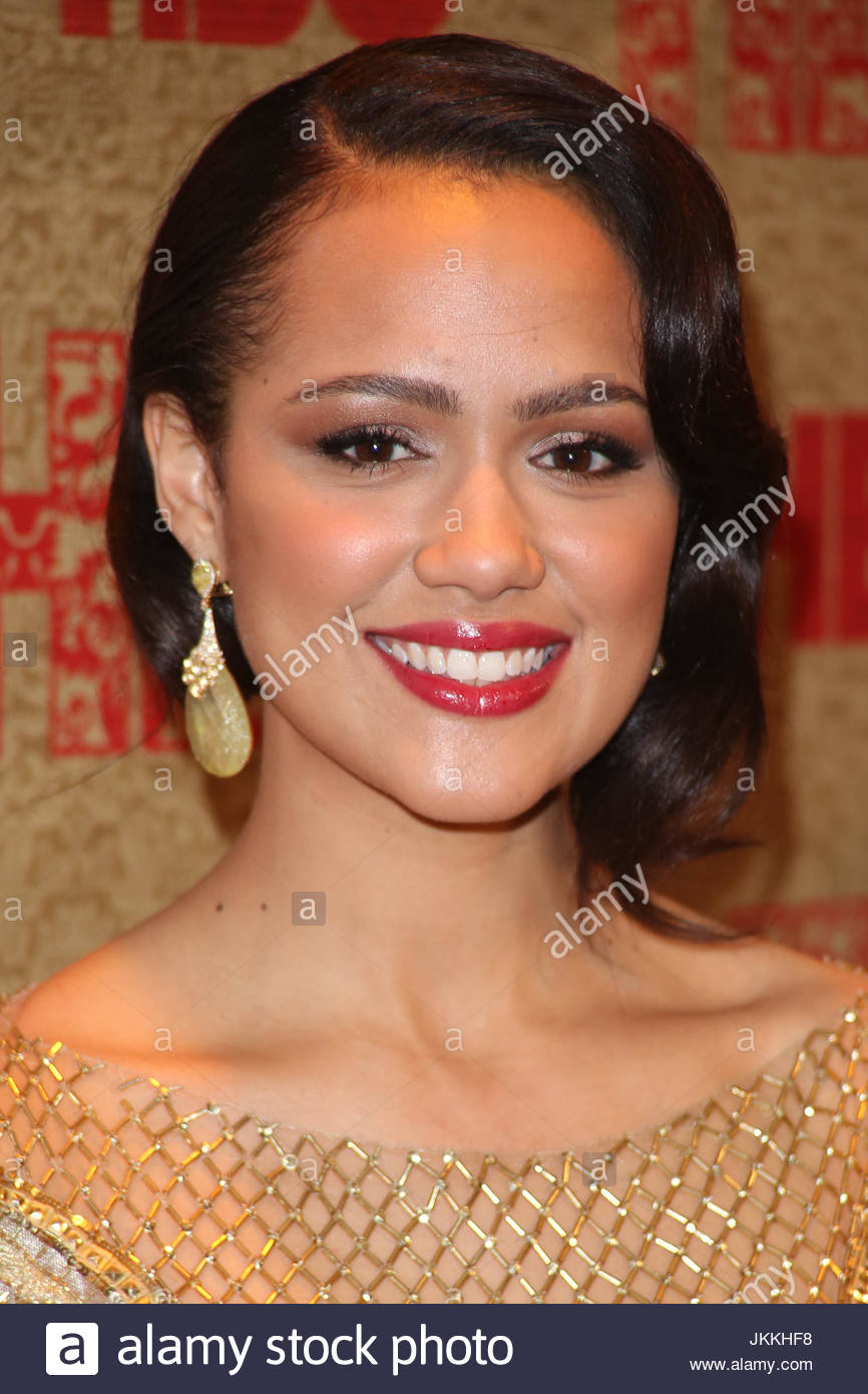 nathalie emmanuel. arrivals at the hbo golden globe after party held