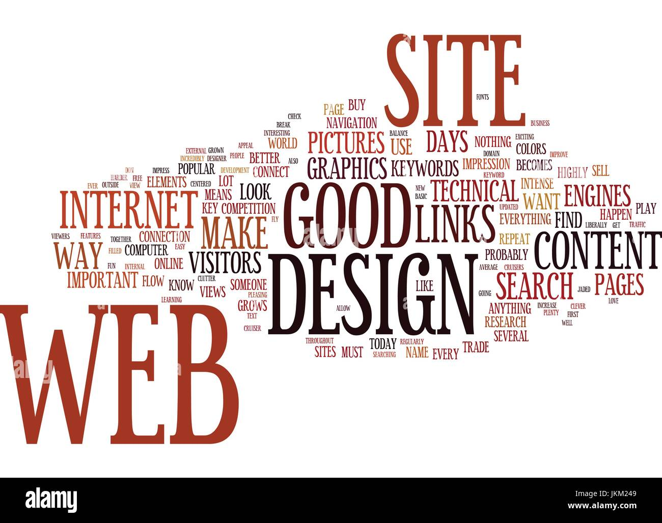 Good Web Design Text Background Word Cloud Concept Stock