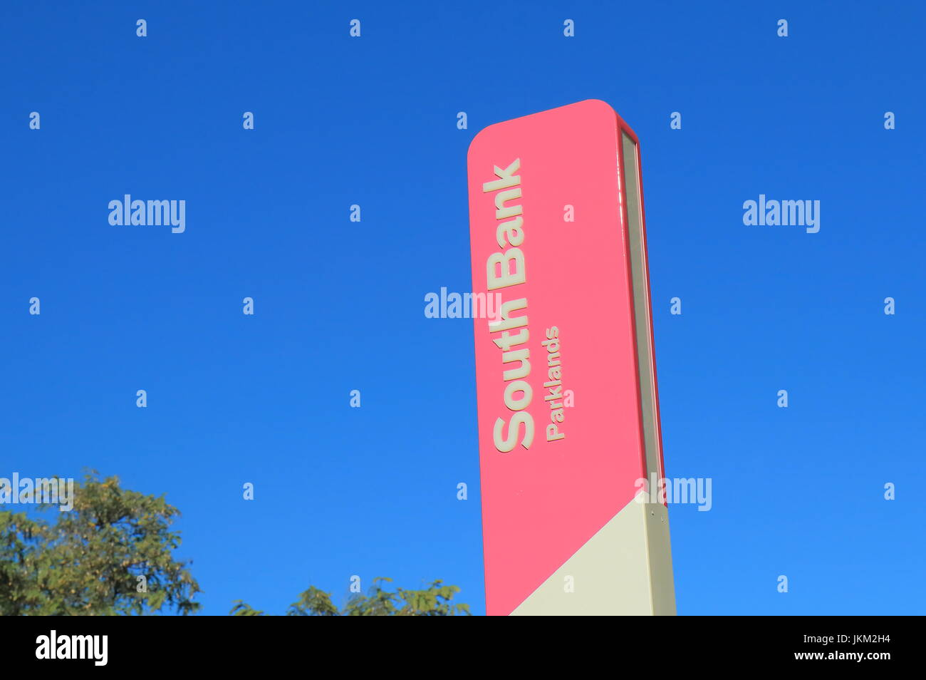 South bank sign Brisbane Australia - Stock Image