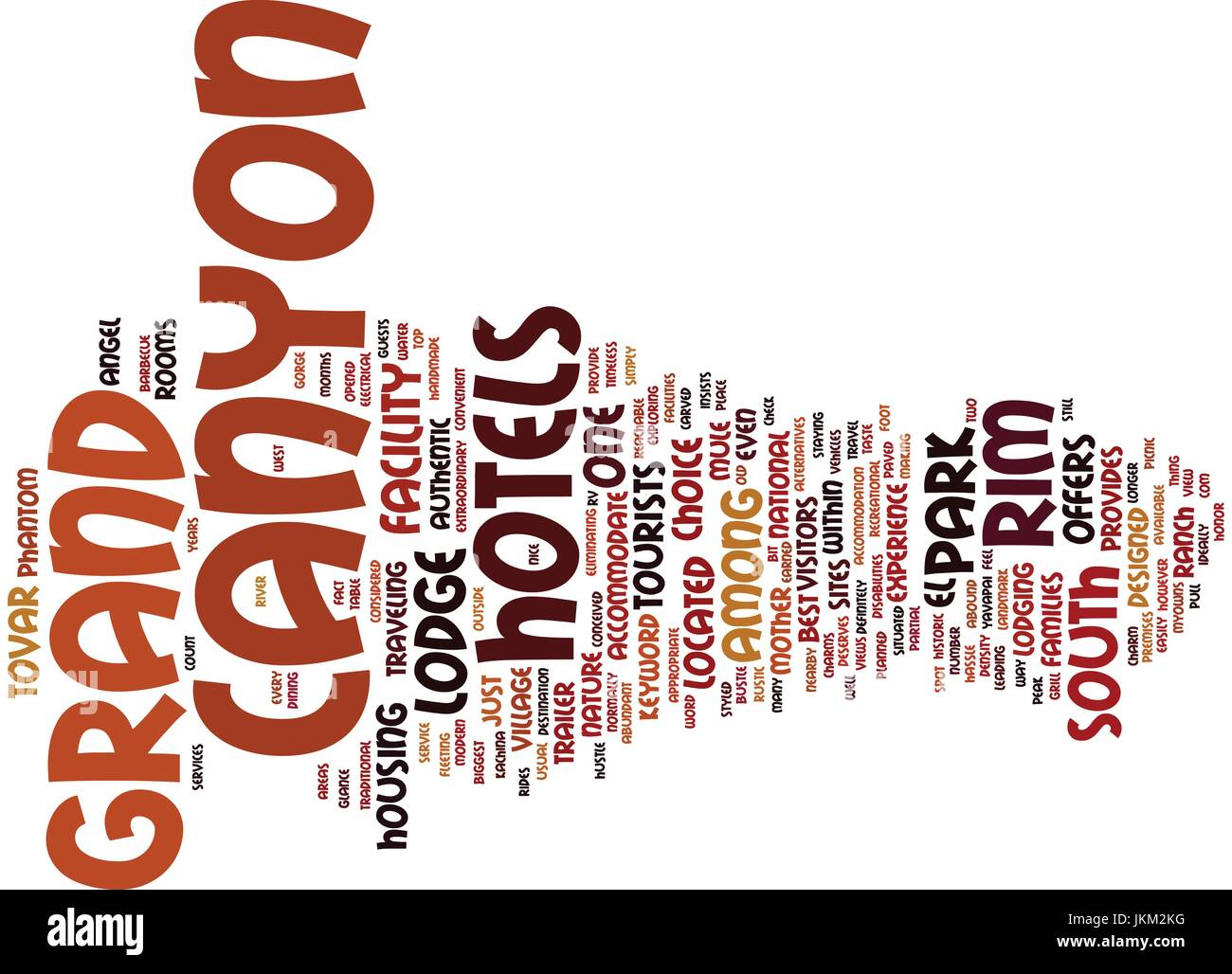 GRAND CANYON HOTELS Text Background Word Cloud Concept - Stock Vector
