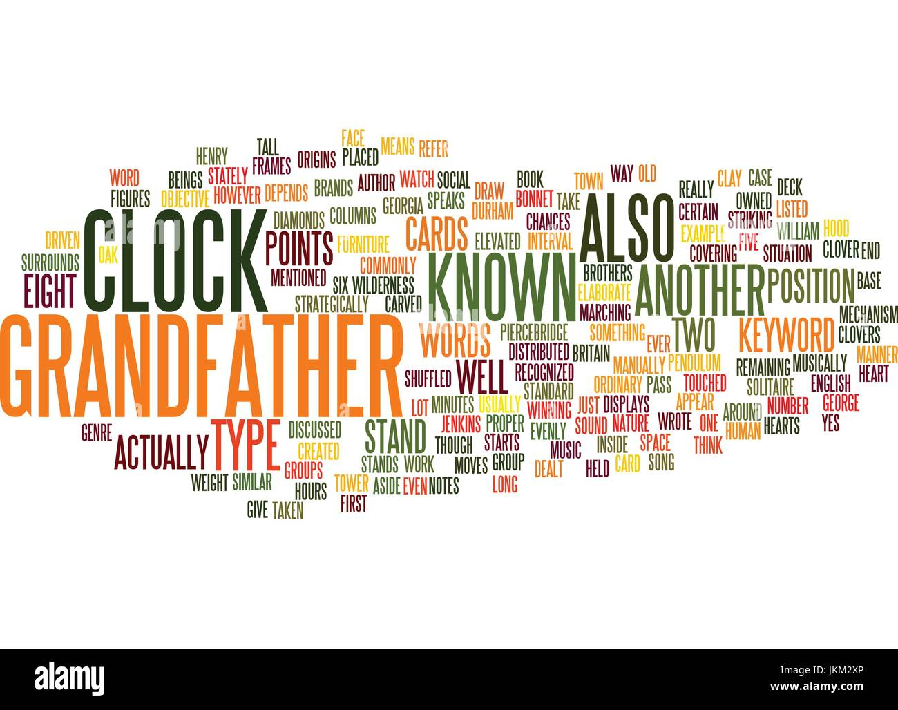 Grandfather Clock Stock Vector Images Alamy Diagram Grandfathers Text Background Word Cloud Concept