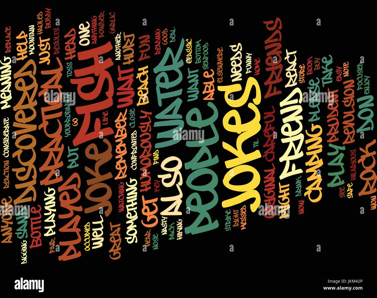 GREAT PRACTICAL JOKES TO PLAY ON YOUR FRIENDS Text Background Word Cloud Concept - Stock Image