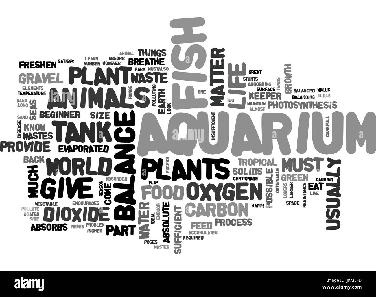 IS YOUR AQUARIUM BALANCED Text Background Word Cloud Concept - Stock Vector