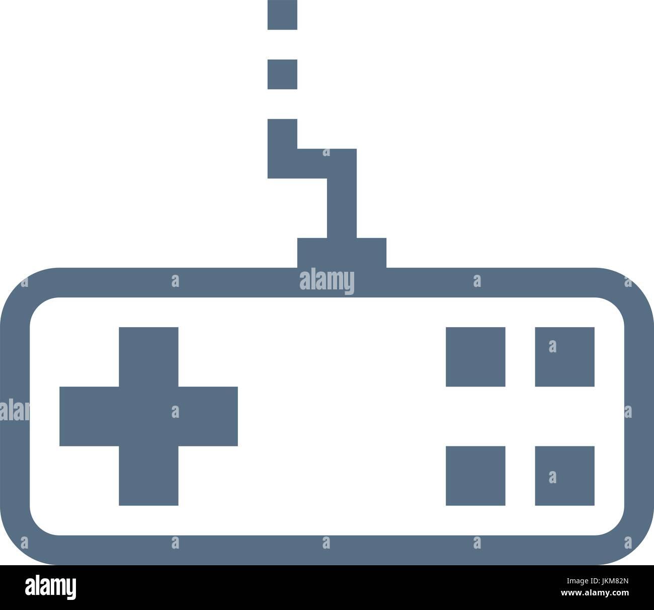 joystick linear vector icon - Stock Image