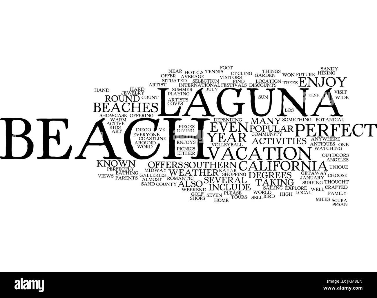 LAGUNA BEACH CALIFORNIA Text Background Word Cloud Concept Stock Vector
