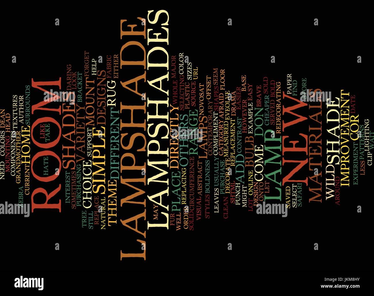 Lamp Shades Decorate A Room Text Background Word Cloud Concept Stock