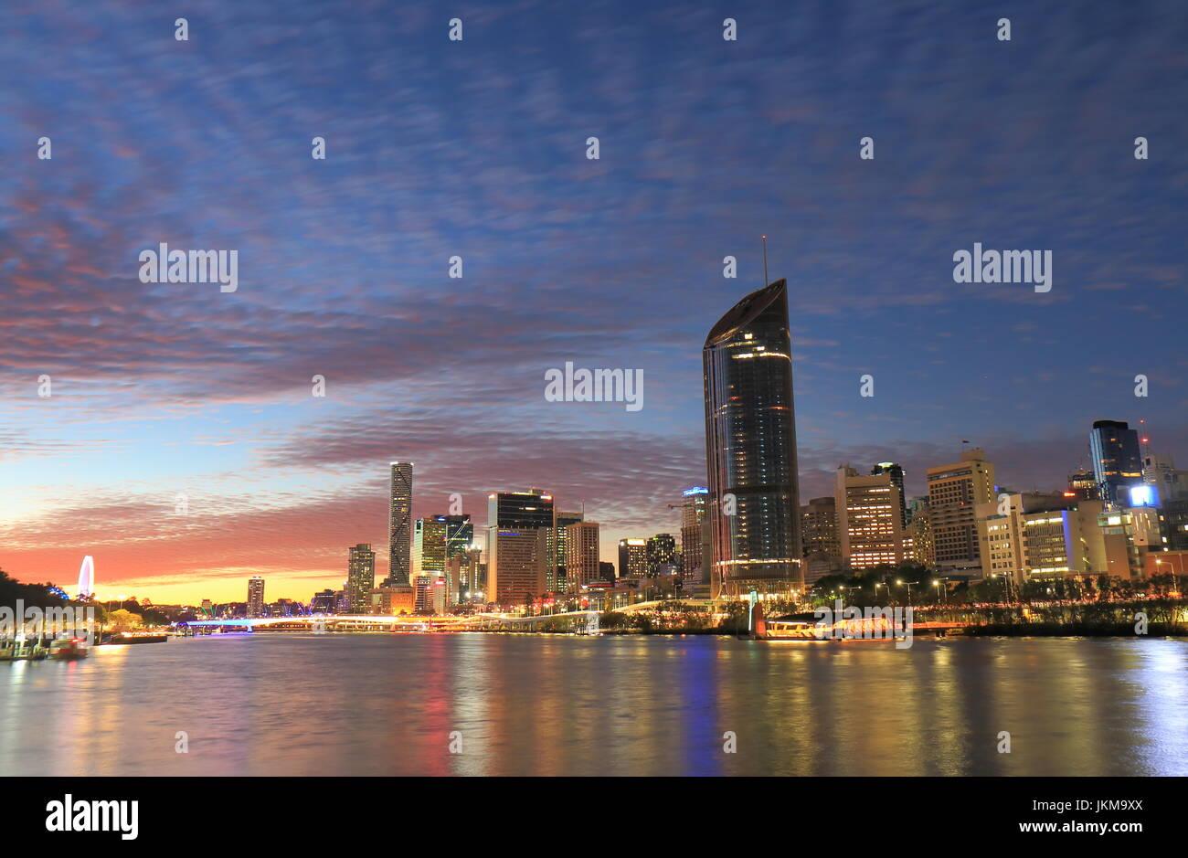 Brisbane downtown skyscrapers cityscape Australia - Stock Image