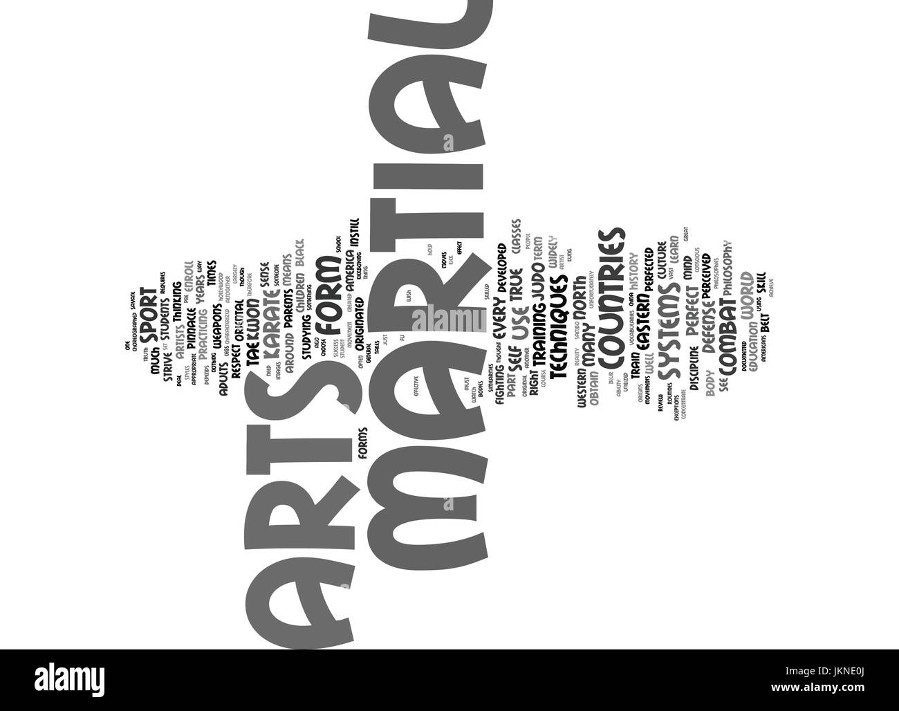 MARTIAL ARTS Text Background Word Cloud Concept - Stock Image