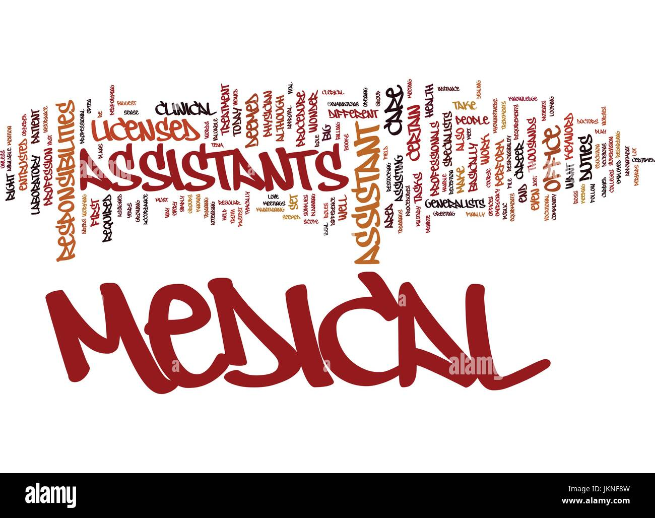 MEDICAL ASSISTANT Text Background Word Cloud Concept - Stock Image