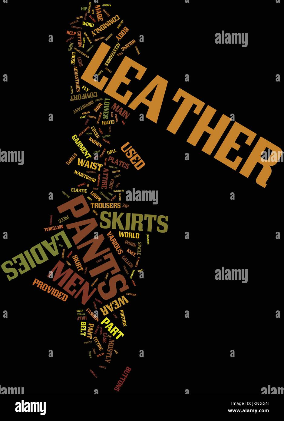 MEN S LEATHER PANTS AND LADIES LEATHER SKIRTS Text Background Word Cloud Concept - Stock Vector