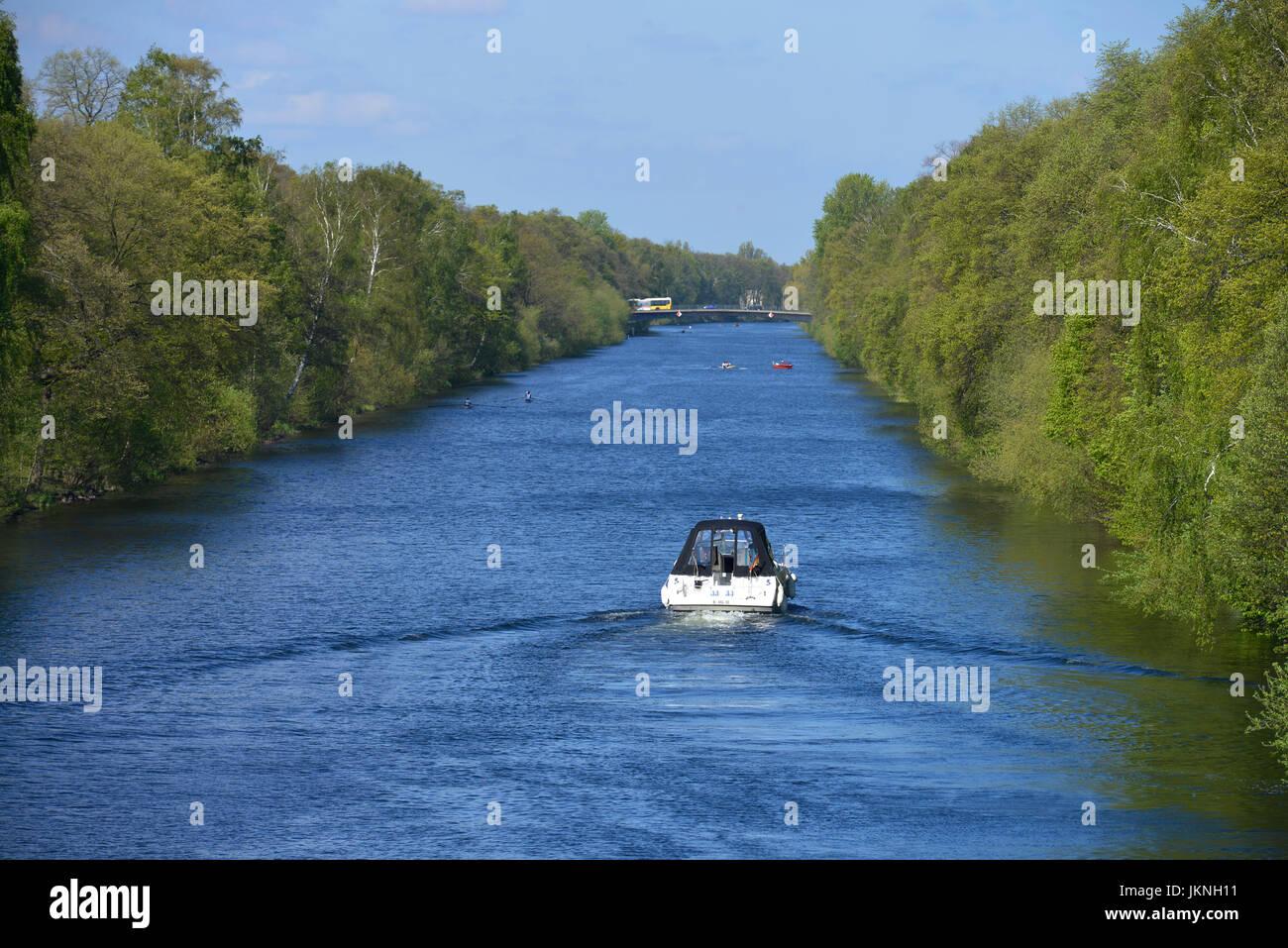 Berlin chip duration navigation canal, Charlottenburg, Berlin, Germany, Berlin Spandauer Schifffahrtskanal, Deutschland - Stock Image