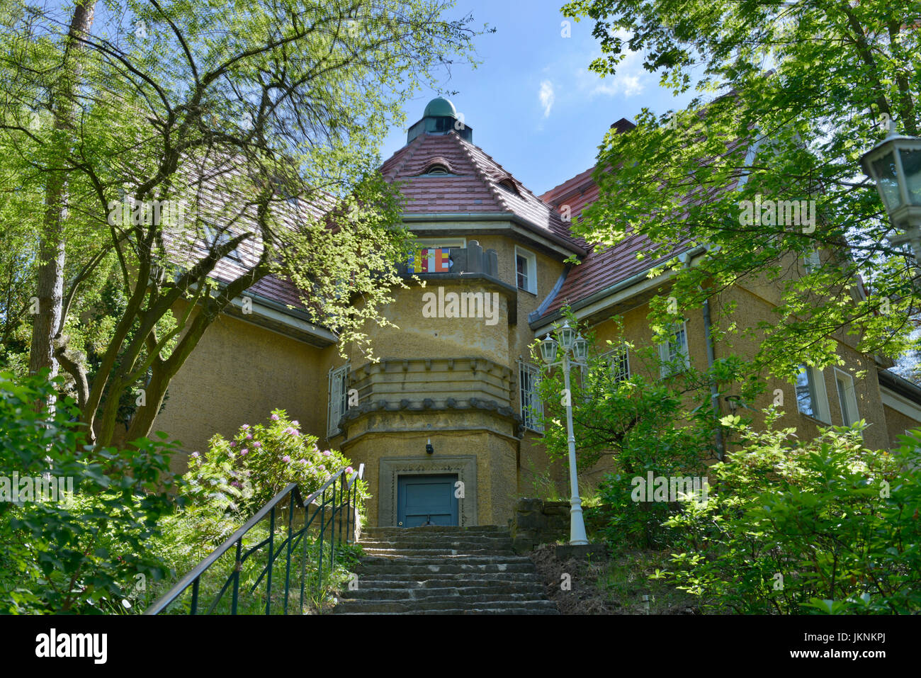 Buddhist house, noble court dam, Frohnau, village Reinicken, Berlin, Germany, Buddhistisches Haus, Edelhofdamm, - Stock Image