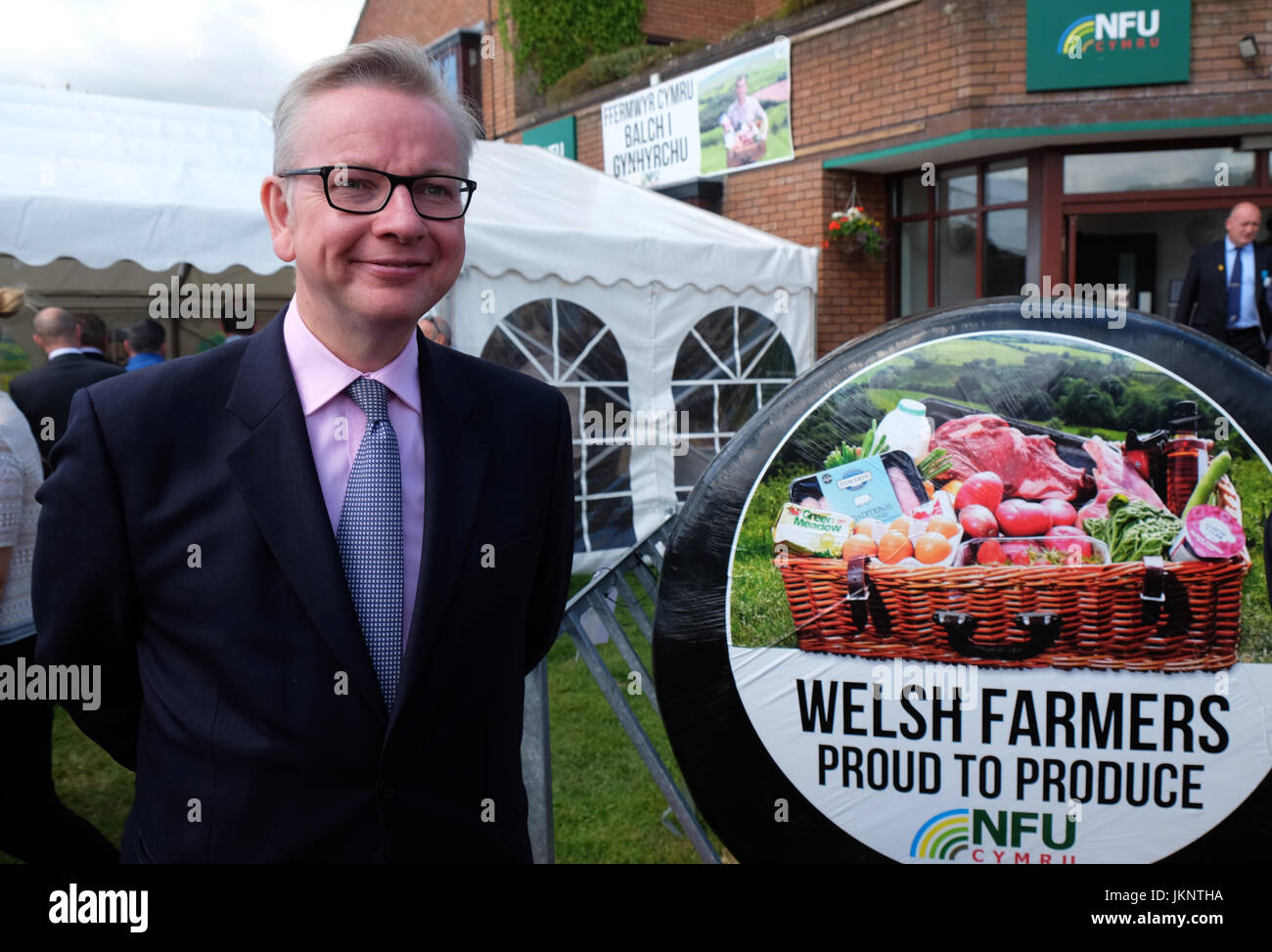Builth Wells, UK. 24th July, 2017. Royal Welsh Show: Michael Gove Secretary of State for Environment, Food and Rural - Stock Image